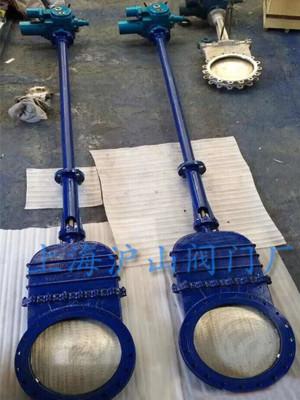 DMZ973H-10C电动加长杆暗板刀型闸阀实拍